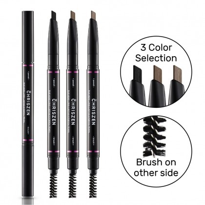Chriszen 2 in 1 Long Lasting Eyebrow Pencil (12g)