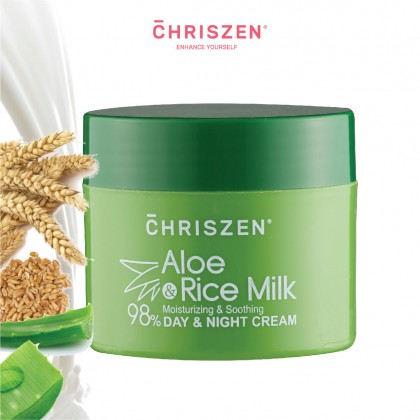 98% Aloe Vera & Rice Milk - Day & Night Cream (50ml)