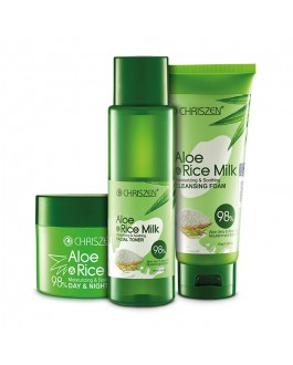 98% Aloe Vera & Rice Milk Facial Set