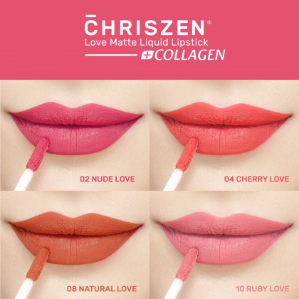 Chriszen Love Matte Liquid Lipsticks Collagen+