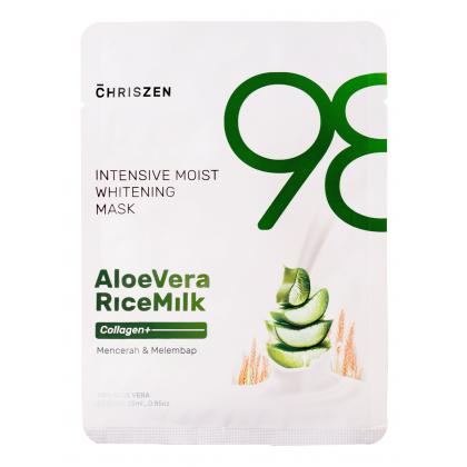 Chriszen 98% Aloe Vera & Rice Milk Collagen+ Intensive Moist Whitening Mask