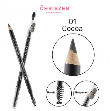 3-in-1 Wooden Eyebrow Pencil