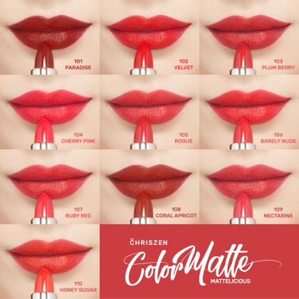 Chriszen Color Matte Lipsticks - 10 Colors Selection