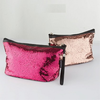 Glittering Make Up Bag - 2 Colors Selection