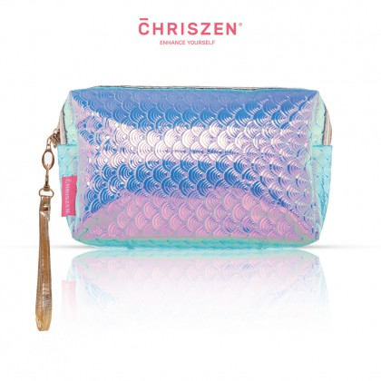 Mermaid Scale Makeup Bag - White