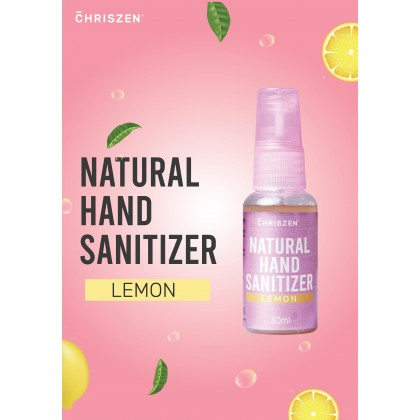 Chriszen Natural Hand Sanitizer Lemon 30ml