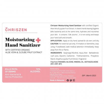 Chriszen Moisturizing Hand Sanitizer Flip White (50ml)