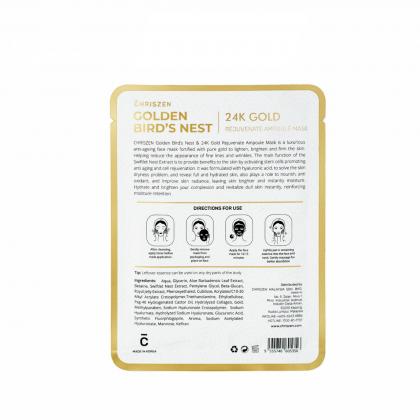Golden Bird's Nest & 24K Gold Rejuvenate Ampoule Mask Silk Sheet (30g)