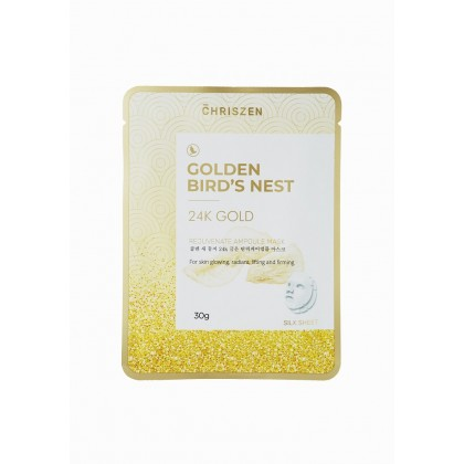 Golden Bird's Nest & 24K Gold Rejuvenate Ampoule Mask Silk Sheet (30g)