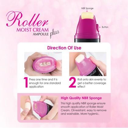 Roller Moist Cream Ampoule Free Roller Sponge (2 in 1)