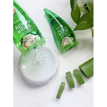 98% Aloe Vera Rice Milk Skin Gel 250ml + free 100ml (limited to first 100 customer)