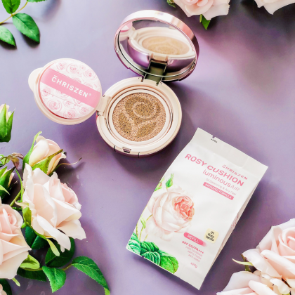Rosy Cushion Foundation Free Refill Pack Set