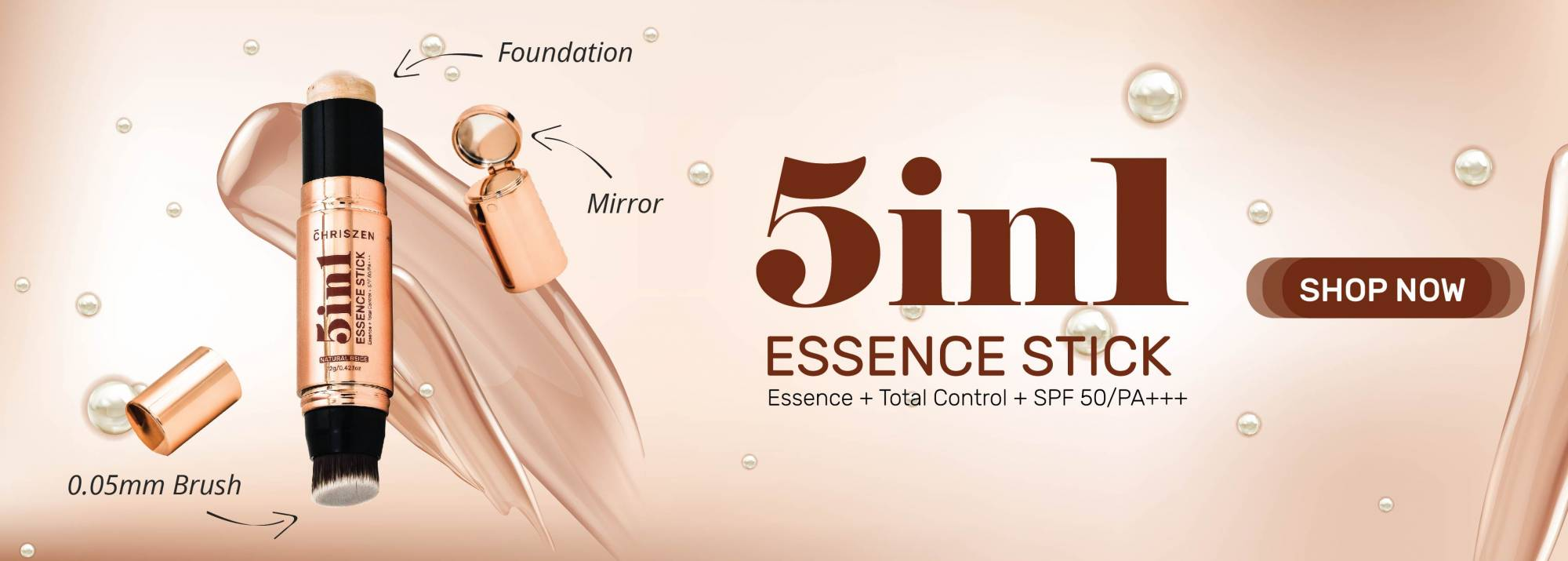 5 in 1 essence stick banner
